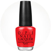 OPI nail polishing